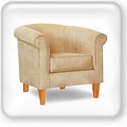 Click to view Alberto cream tub couch