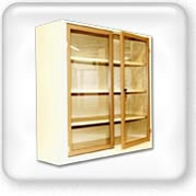 Click to view Steel glass door book case